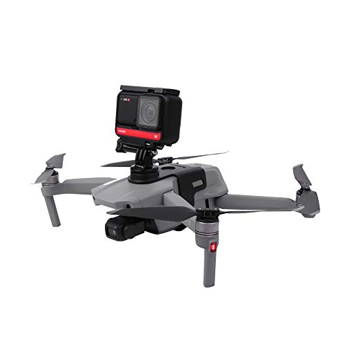 Honbobo Telecamera Staffa di Supporto Luce di riempimento per Drone DJI Mavic Air 2S / Mavic Air 2, Collegamento per GoPro/per Insta360 / per Action Cam Osmo