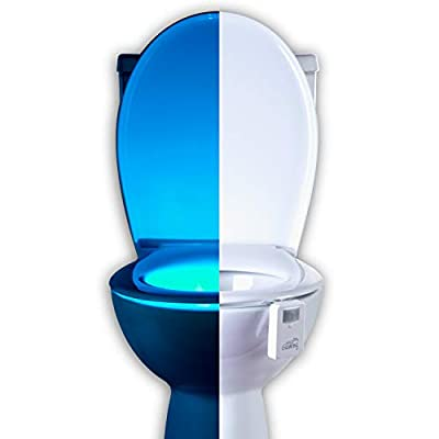 16 Color Motion Sensor Toilet Bowl Night Light - Funny Gag Birthday Gift Idea for Husband, Him, Men, Dad, Boyfriend - Cool Fun Gadget & Novelty, Unique Retirement or Housewarming Present from Mind-glowing