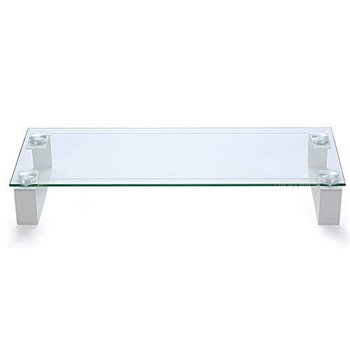 CaoDquan glazen monitorhouder, voor notebooks, minimonitor, pc/tv en computertafel, houder voor bureau-opslag