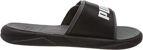 PUMA Unisex-Erwachsene Royalcat Comfort Zapatos de Playa y Piscina, Schwarz Black-Castlerock White, 44.5 EU