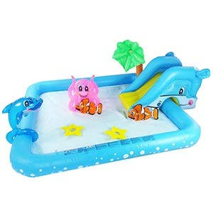 GLUTINOUS Inflatable Pool for Baby Water Paly Kids Slide Toy Birthday Party Gifts For Baby