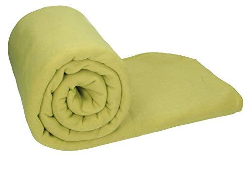 Betz Maxi Fleecedecke Kuscheldecke Farbe Gras Grün Größe 140x190 cm Qualität 220g/m²