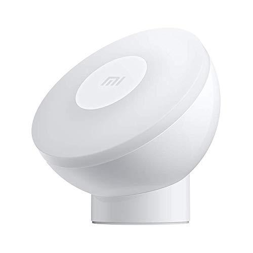 Mi Motion-Activated Night Light 2 Blanco Luz giratoria magnética de 360 °Rotación magnética de 360°, te hará compañía todas las noches