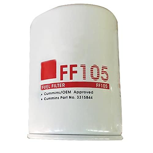 Hachiparts Filtro de Combustible 3315844 P55010 FF105 FF5036 FF5078 FF5327 Compatible con Cummins Excavadoras Grupo Electrógeno