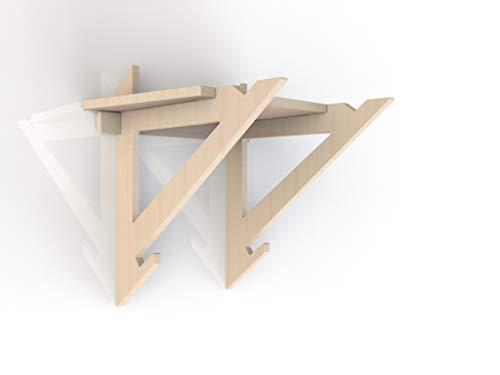 RDM Holz-Fahrradaufhängung, Wandhalterung, für den Innenbereich, für Sport, Fahrrad, MTB Sport, Holzregal, Fixie
