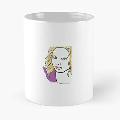 Liv from Izombie - Taza de café de cerámica de mármol blanco