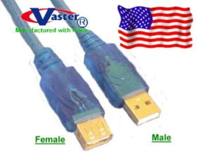 10 Pcs 1 Ft 24k Premium Usb2.0 Male to Female Extension Cable