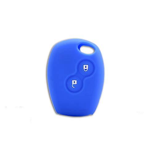 1neiSmartech Cover Guscio Colorato Case Materiale Silicone Morbido Per Scocca Chiave Telecomando 2 Tasti Auto Dacia Logan Sandero Duster Express Vari Colori (Blu)