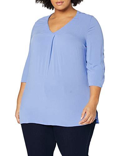 TOM TAILOR MY TRUE ME Damen Classic Open Collar T-Shirt, 15497-sea Blue, 44