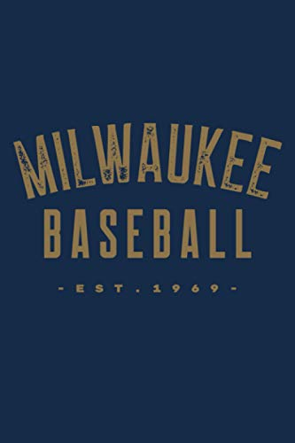 Milwaukee Baseball: Vintage Retro Baseball Themed notebook Gift Idea