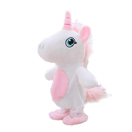 TOPofly El Movimiento y Hablar del Unicornio Juguetes Repite lo Que Usted Dice Interactivo Juguetes de Peluche Lindo del Unicornio Muñecas Juguetes Ruta 1Pc