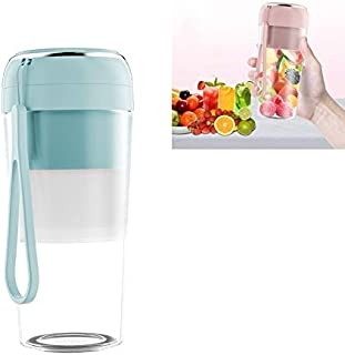 Electric Small Juicer Portable USB Home Mini Juice Cup, Style: Without Vacuum Lid High Quality (Color : Light Blue)