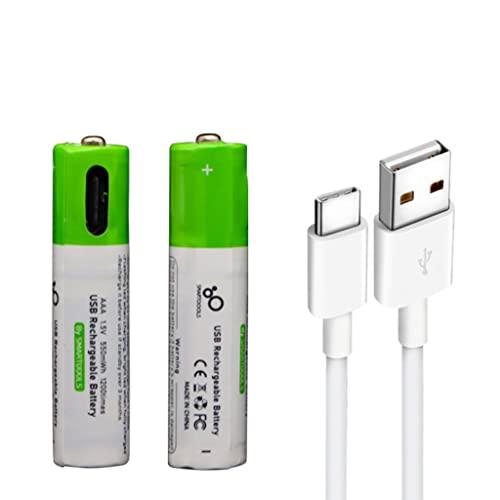 ZHINTE Batterie Lithium-Batterien 1,5 V AAA USB-Akku 550 mWh Batterien Haushalts-Massagegerät Metalldetektor-Taschenlampe