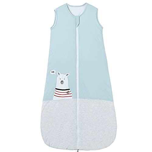 Saco de dormir para bebé, de invierno, para recién nacidos, niñas, 2,5 tog, 3-6 años, diseño de oso, color azul