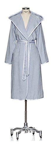 Möve Homewear Leichter Kapuzenmantel mit Paspel in Gr. 36 aus 100 % Baumwolle, silver