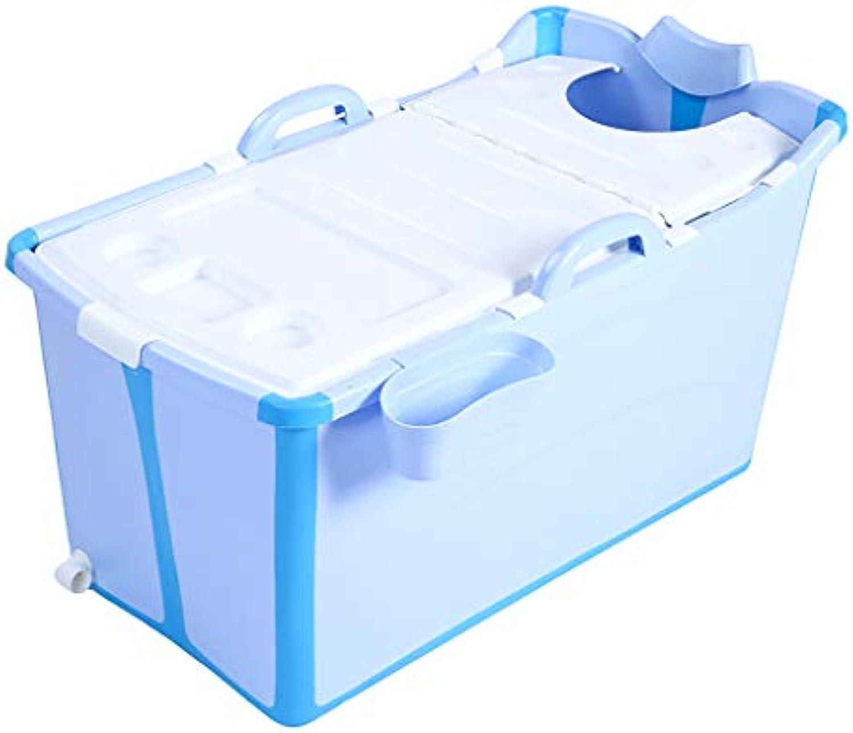 HAIYING Tragbare Badewanne, Klappbadewanne Klappbadewanne Groe Kinderklappbadewanne Babyhocker Badewanne Kindklappbadewanne, Faltbar, (2 Farben) (Farbe   Blau)