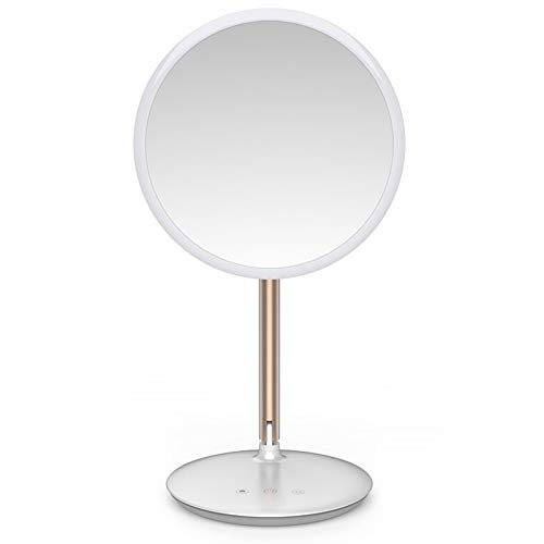 JINBAO Makeup mirror with light and rechargeable beauty mirror LED make-up mirror touch screen dimming make-up lamp