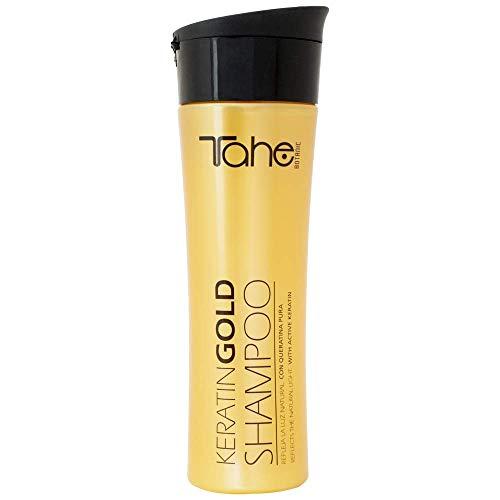 Tahe- Keratin Gold Shampoo mit reinem Keratin und flüssigem Gold, 300 ml