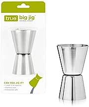 True Big Jig Double Jigger, Stainless Steel Cocktail Measure, Bar Tools, 1 Oz & 1.5 Oz Jigger