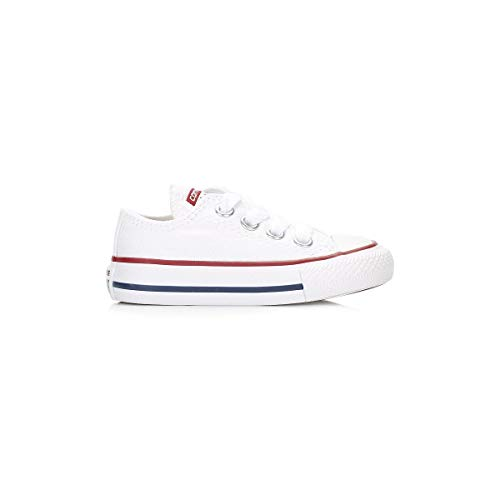 Converse Junior White All Star OX Trainers-UK 11 Kids