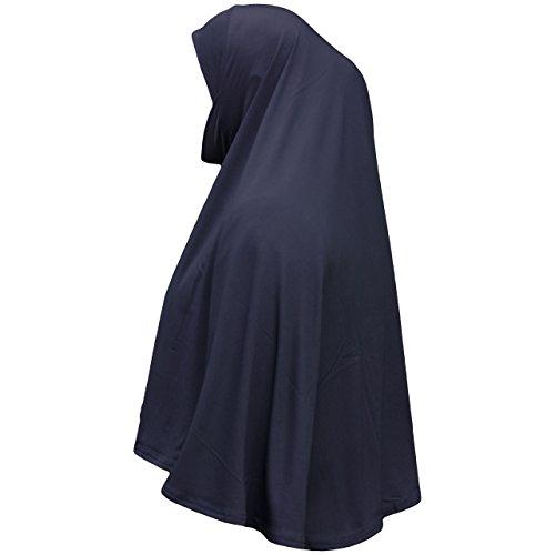 Fertiger Hijab aus einem Stück, al Amira, XL, mit Kinnbedeckung Gr. Einheitsgröße , navy