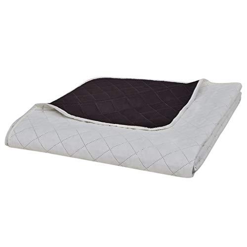 vidaXL Steppdecke Zweiseitig 220x240cm Bettüberwurf Tagesdecke Steppung Decke
