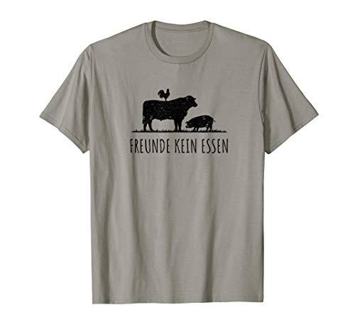 Freunde Kein Essen Tiere Vegan Tierschutz Umwelt Veganer T-Shirt
