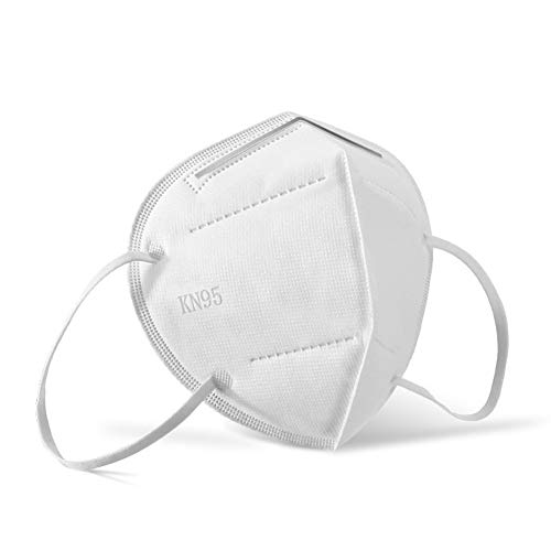 Face Mask Respirator Filters Anti Pollution Anti Kop van het Gezicht Mask Respirator met actieve kool Fold Flat Dust Mask (10st) Ademend katoen (Color : White, Size : One size)
