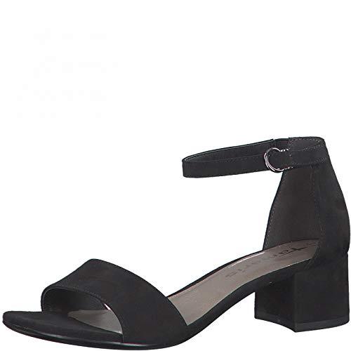 Tamaris Femme Sandales, Dame Sandale à lanières,Sandale,Chaussure d'été,Sandale d'été,Talon,Black,40 EU / 6.5 UK