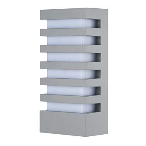 LemonBest Wall Sconce Modern Porch Light Garden Wall Lamp, Indoor Outdoor Use 15 Watts LED Wall Light Fixture for Corridor Garage Cafe Villas Hotel Lighting (Grey/Cool White)