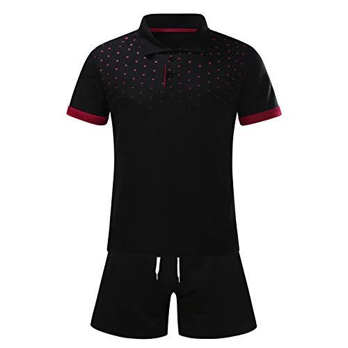 Los hombres de verano de 2 piezas traje 2021clase ajuste punto impreso camisas de manga corta y pantalones cortos conjuntos polo camisas para hombres conjunto