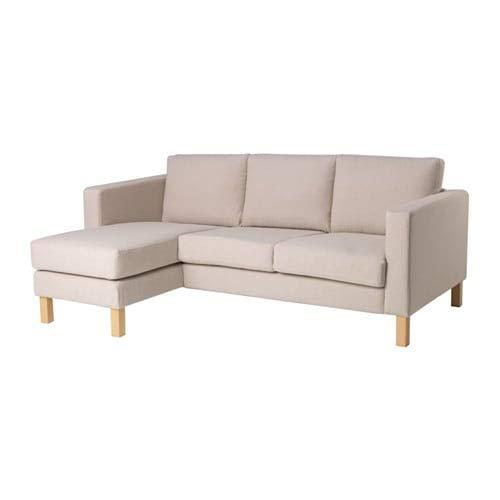 KARLSTAD カルルスタード 2人掛けコンパクトソファ&寝椅子, ローファレット ベージュ 591.581.16