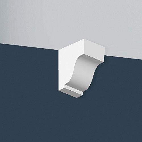 Ménsula Orac Decor TF02 XTERIO Moldura esquina Moldura elemento decorativo atemporal clásico blanco