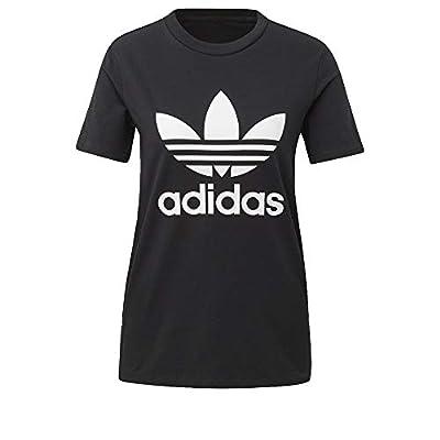 adidas Women's Trefoil Tee, Black/White, XL