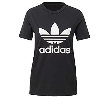 adidas Women s Trefoil Tee Black/White S
