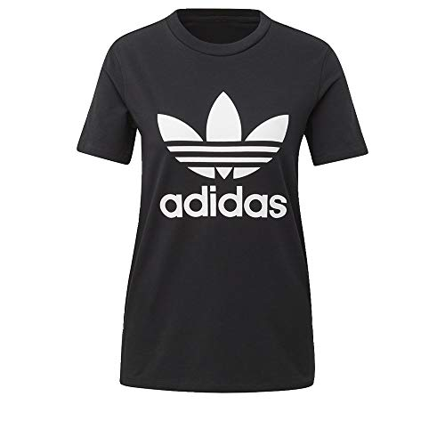 adidas Originals Damen Trefoil Tee T-Shirt, schwarz/weiß, Klein