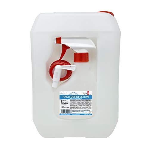 ceragol ultra Desinfektionsmittel für Hand und Flächen - ohne Alkohol, 5 Liter inkl. Sprühflasche