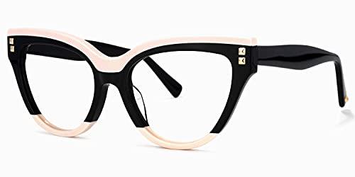 Voogueme Cat Eye Blue Light Blocking Glasses for Women, Block UV Blue Light, Anti Eyestrain Eyeglasses Dalila GOA01858-02
