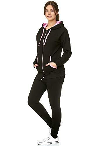Violento dames joggingpak | trainingspak | pak met capuchon en nauwe manchetten | trainingsjas en joggingbroek | comfortabel en sportief | Uni 239-704