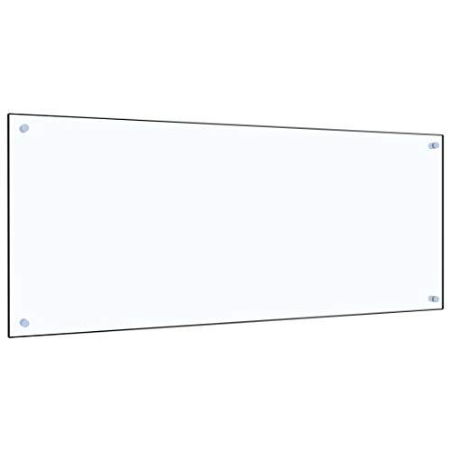 vidaXL Küchenrückwand Spritzschutz Fliesenspiegel Glasplatte Rückwand Herdspritzschutz Wandschutz Herd Küche Transparent 120x50cm Hartglas
