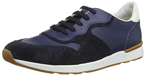LLOYD Herren Low-Top Sneaker Antero, Männer Sneaker,VARIOFOOTBED, leger Halbschuh strassenschuh schnürer sportschuh,Pilot/Blue/Bianco,8 UK / 42 EU