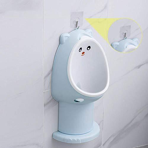 bulrusely Montato a Parete del WC per Bambini, orinatoio, orinatoio orinatoio per Bambini, ingranaggio Regolabile igienico, Adatto per la Camera da Letto Blu