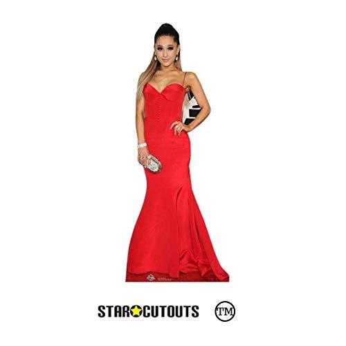 Star Cutouts Ltd CS631 Ariana Grande Pappaufsteller in Lebensgröße, ideal für Fans, Freunde, Familie und Veranstaltungen, Höhe 157 cm, Breite 61 cm, mehrfarbig