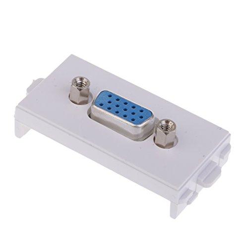 B Blesiya Módulo de Enchufe VGA de 1 Pieza Accesorio Electronicó Pared Modular Multipropósito