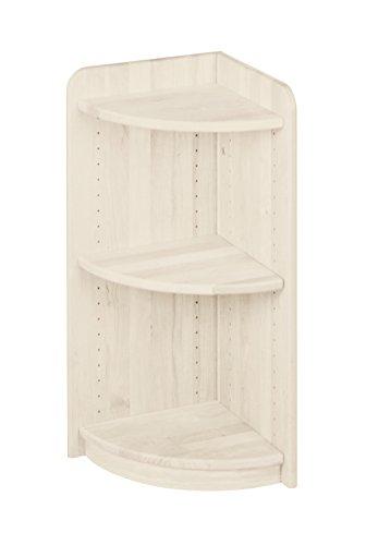 BioKinder 22224 Lara Regal Bücherregal Eckregal aus Massivholz Kiefer 80 x 35 cm weiß lasiert
