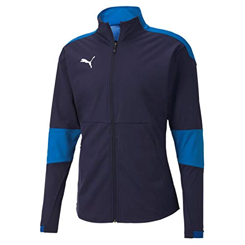 PUMA Herren teamFINAL 21 Sideline Jacket Trainingsjacke, Peacoat-Electric Blue Lemonade, M