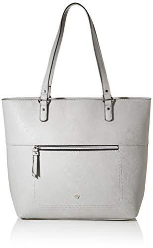 TOM TAILOR Shopper Damen, Hellgrau, Kasiana, 41x11,5x32 cm, Handtasche groß, Umhängetasche
