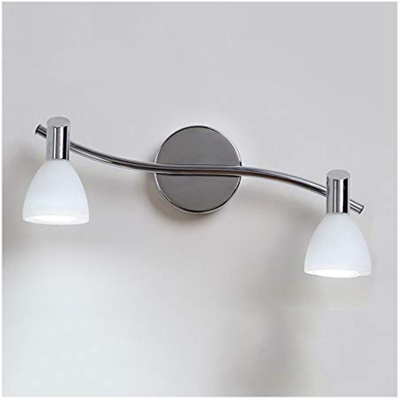 &LED Spiegelfrontlampe Spiegelleuchte LED Badezimmer Schminktisch Wandleuchte Anti-fog Spiegel Lampe Spiegel Schrank Licht 2 Kopf   3 Kopf Lichtquelle Lampe vor dem Spiegel (gre   37cm 2 heads)