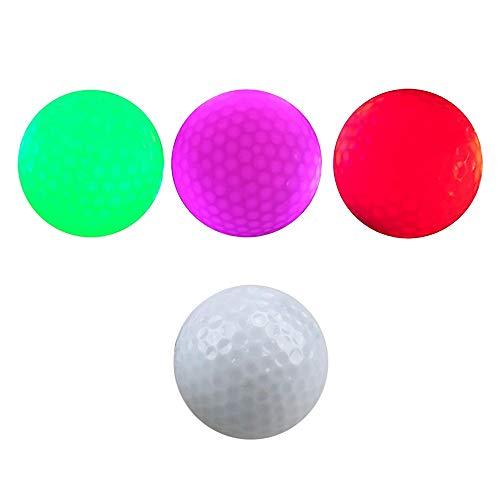 MGRETT 3 pelotas de golf luminosas LED para ejercicios nocturnos de larga distancia y largas distancias.