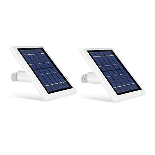 Wasserstein 2W 6V Solar Panel with 13.1ft/4m Cable Compatible with Arlo Ultra/Ultra 2, Arlo Pro 3/Pro 4, and Arlo Floodlight ONLY (2-Pack, White) (NOT Compatible with Arlo Essential Spotlight)